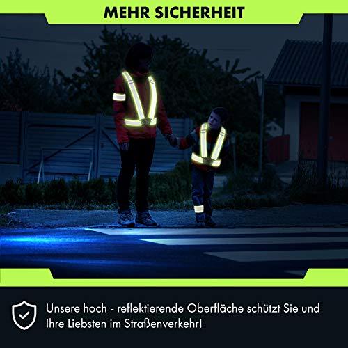CBL LUXURY Reflektorweste [8er Set] Bestehend aus Fahrrad Warnweste, Armband und Netztasche Premium Reflective Vest in Zwei - 4