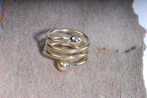 Spiral- Ring, vergoldet - Esoterik günstig kaufen online Magnetschmuck