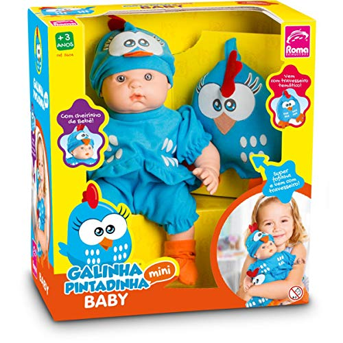 Boneca Galinha Pintadinha Mini Baby Roma Jensen Branca