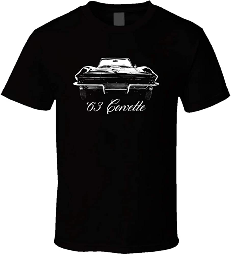 1963 supreme Corvette Grill View with Model and Black Year T Namea Shirt Detroit Mall