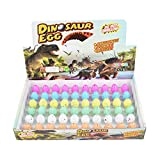 Wenosda Dinosaur Eggs Toy Novelty Hatching Dinosaur Egg for Kids Small Size Pack of 60pcs, Colorful Points Pattern
