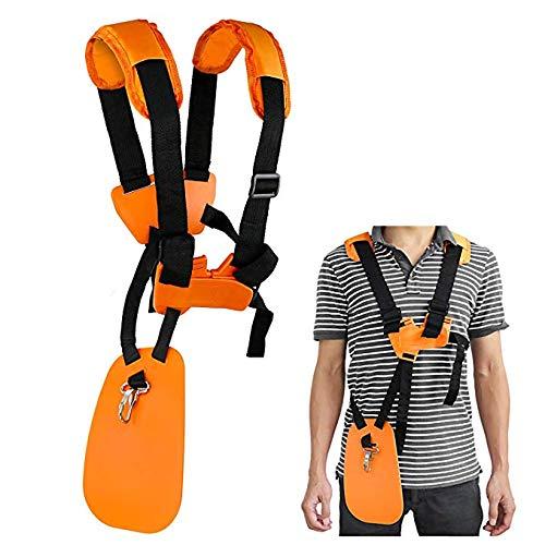 Urisgo - Correa para el hombro, correa para el hombro, recortador de césped, cortacésped, cortacésped, cinturón, cinta para desbrozadora, desbrozadora de césped, naranjas