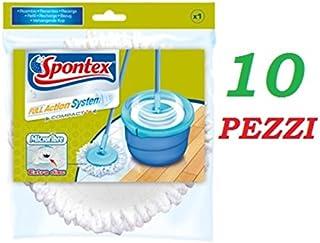 10unidades Spontex Mop Repuesto Full Action System plus100% Microfibre Mopa Original
