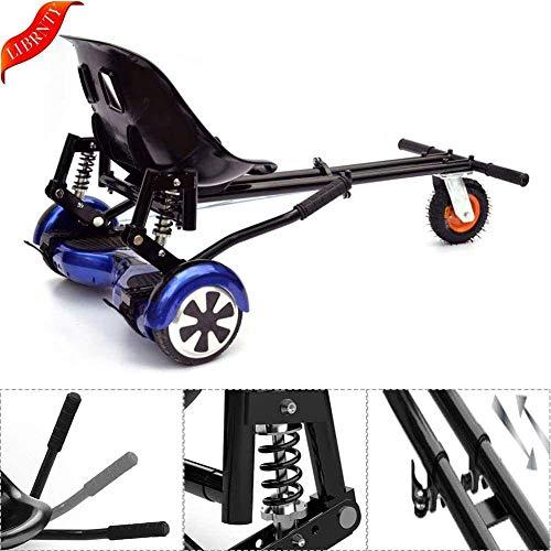 LOISK Hoverkart Silla para Hoverboard Electrico Hover Kart Ajustable para Patinete Eléctrico Asiento Kart Adaptarse a 6.5 8 10 Pulgadas Hoverboard Go Kart con Asiento para Niños y Adulto