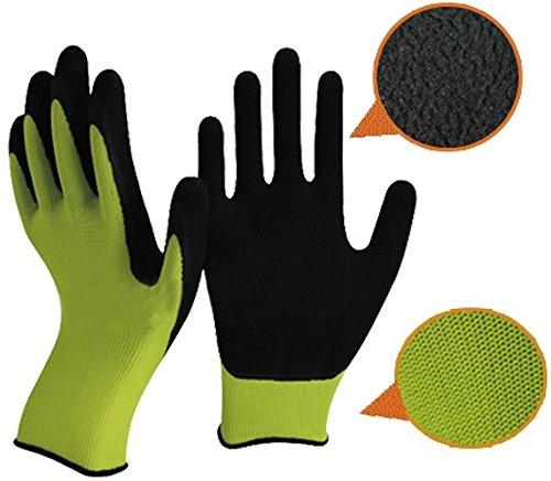 Guanti verde e nero Latex giardinaggio da Easy Off...