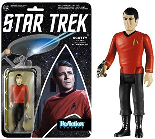 Star Trek Scotty ReAction 3 3 4-Inch Retro Action Figure by Funko