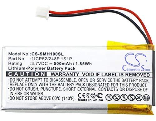 Cameron Sino 500mAh de polímero de Litio baterías de Repuesto de Alta Capacidad para Sena smh-10Vida útil, Fits Sena 1icp52/248p 1S1P