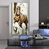 Obra de arte en lienzo Pinturas de caballos más grandes Arte de la pared Carteles de animales corriendo Cuadro de pared para la sala de estar Decoración del hogar 70x140 cm / 27.6 'x 55.1' Sin marco