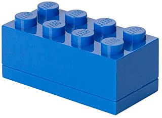 LEGO Mini Box With 8 Knobs, in Bright Blue