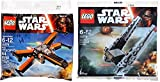 LEGO Star Wars Kylo Ren's Command Shuttle & Poe's X- Wing Fighter Starship Set - Polybag 30279 + 30278 Edition Building Set
