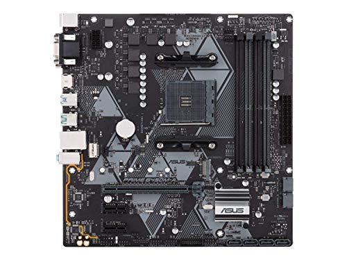 Asus PRIME B450M-A Scheda Madre AMD AM4 mATX con Connettore Aura Sync RGB, DDR4 3200MHz (Max. 64GB), M.2, HDMI 2.0b, SATA 6Gbps e USB 3.1 Gen 2, Nero