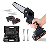 Mini Chainsaw, Cordless Rechargeable Chainsaw, 1.3kg Ultra-Light, Adjustable...