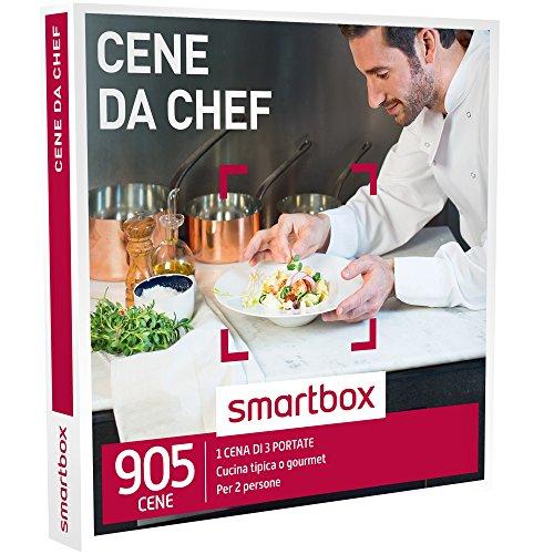 Smartbox - Cene Da Chef - 905 Cene Gourmet o Tradizional, Cofanetto Regalo, Gastronomia