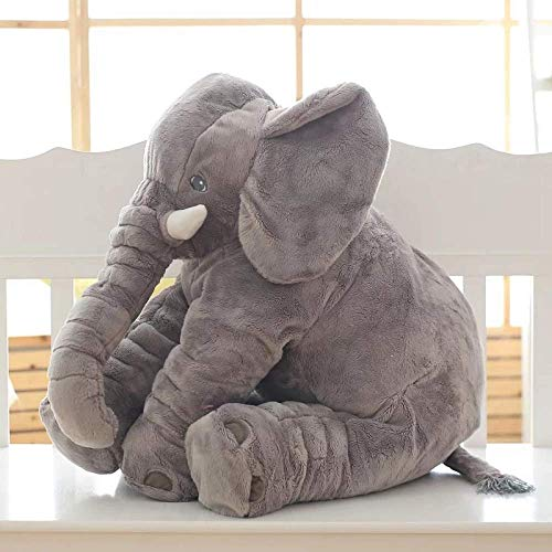 Giant Elephant Plush Toy, Cute Baby Pillow Cushion, Cuddle Comforter Toy for Toddlers Newborns, to Accompany to Sleep, Birthday Gift & Valentine's Day for Her