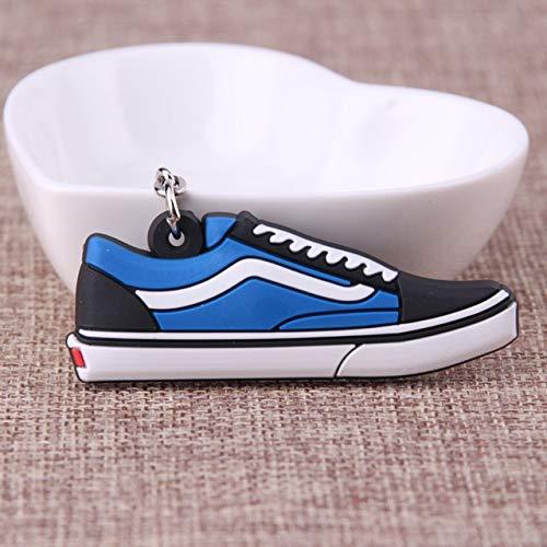 TZZD Llavero de silicona con diseño de zapatos de Jordan para mujer, hombres y niños, llavero de zapatilla (color de foto3)