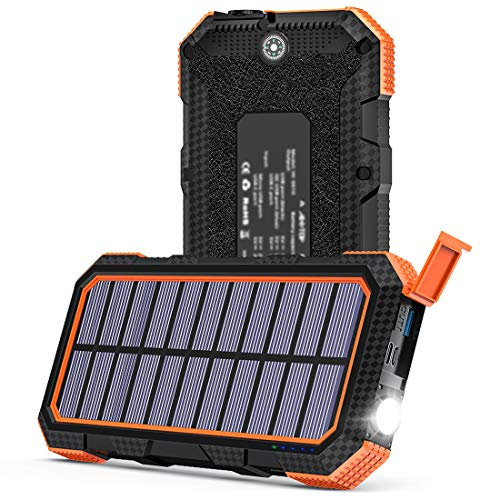 18 Watt Solar Laptop Charger with 26,800mAh Battery Bank by Addtop