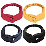 Hair Band Fashion Elastic Headbands The by features Cotton Material, a Twisted Detail on The Front And an Elasticated Band On The Back