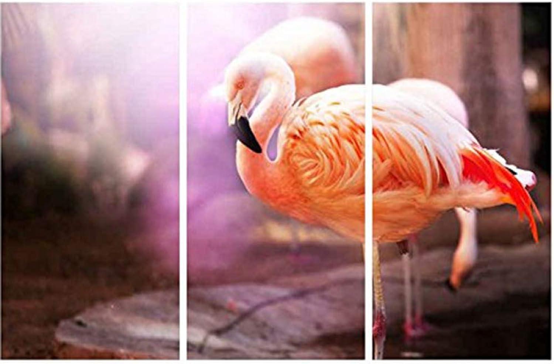 n ° 1 en línea FGVBWE4R Pinturas Sobre Sobre Sobre Lienzo Arte de la Parojo Decoración para el hogar Sala de Estar 3 Piezas Hermosas Flamencos Imágenes HD Prints Paisaje Animal Cartel Marco-M  de moda