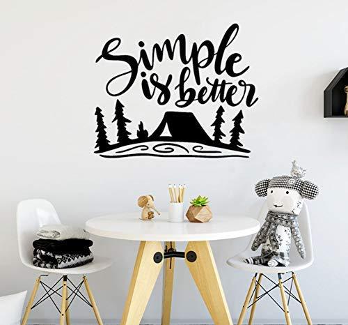 51X42 Cm Wandtattoo Camping Wandaufkleber Im Freien Einfach Ist Besser Entfernbarer Kleber Spielzimmer Wohnkultur Wandbild