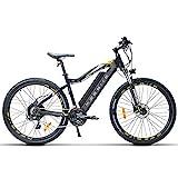 MSEBIKE 27.5 Pulgadas Bicicleta eléctrica, Bicicleta de montaña 400W 48V 13Ah, Asistente de Pedal de 5 Niveles, Horquilla de suspensión, Freno de Disco de Aceite (Black)