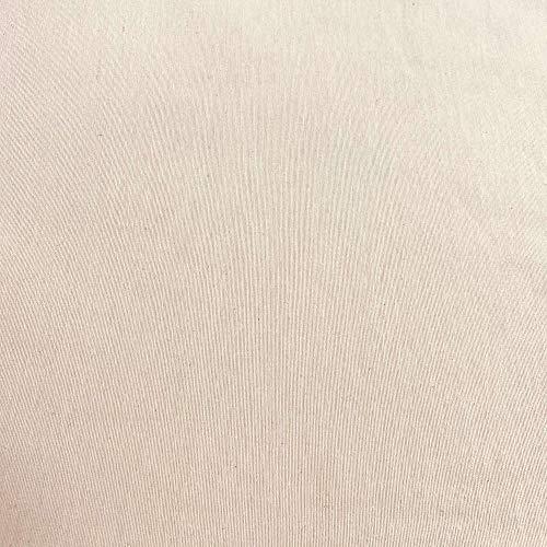 Kt KILOtela Tela por Metros de loneta Lisa - Algodón, poliéster - Solidez a la luz: 5-6 - Ancho 280 cm - Largo a elección de 50 en 50 cm   Crudo