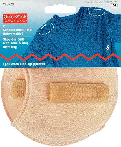 Prym 993831-1 Hombreras raglán con cierre de velcro S, color piel, Blanco, Small