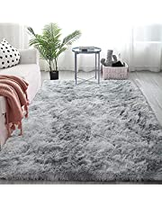 Leesentec Area Rug Super Soft Indoor Modern Shag Area Smooth Fur Fluffy Rugs Anti-Skid Shaggy Rugs for Living Room Dining Room Home Bedroom Carpet Floor