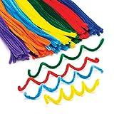 Baker Ross- Limpiapipas de los Colores del arcoíris (Pack de 120)- Coloridos limpiapipas en los Tonos del arcoíris para Manualidades Infantiles