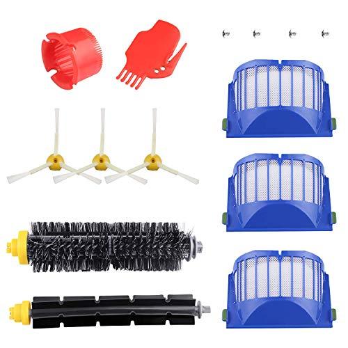 ASUNCELL Accessoires pour le kit de pièces de Rechange pour Aspirateur iRobot Roomba 600 620 630 650 660