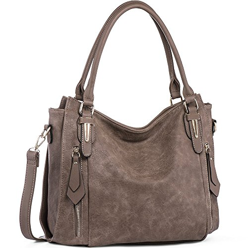 1. Main Material: High quality PU leather with Golden Hardware 2. Approx Size:[Bottom 14.96L,Top 12.99L*5.11W*12.2H]IN. Height of Handle: 8.26 IN. 3. Structure: The handbag has 1 middle zipper pockets,2 compartments open pockets for keys/card,1 side ...