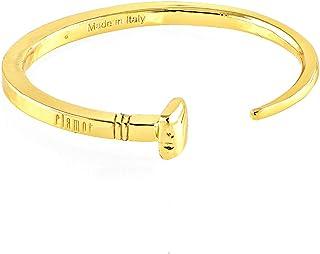 Clamor Glamour - Bracciale Chiodo, Taglia: S (da 16 a 21 cm), Colore: Oro