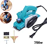 Electric Planer,110V 700W Powerful Electric Wood Planer Door Plane Hand Held Woodworking Power