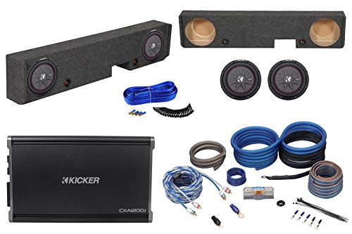 """10"""" Kicker Subwoofers+Amp+Box+Amp Kit for 01-08 Ford F250/F350 Super Duty Xcab"""