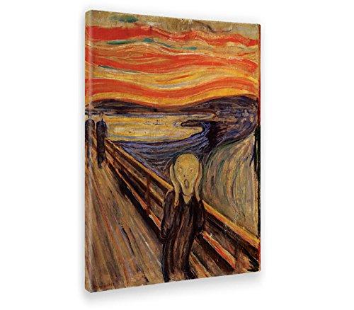 Giallobus - Cuadro - Impresion EN Lienzo - Edvard Munch - EL Grito - 70 x 100 CM