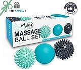 RELAX  Set unique de 3 balles de massage...