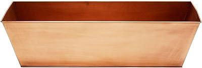 Achla Designs C-82C Plain Copper Flowerbox, Large Copper Window Flowerbox Planter, Large, Antique Copper Finish