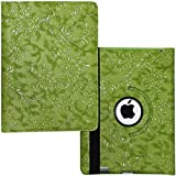 iPad Air 1 /6th /5th Generation Case, Lingsor 2018 2017 iPad 9.7 Rotating Stand Smart Case Magnetic Cover For A1954 A1893 A1823 A1822 A1476 A1475 A1474 MP2G2LL MP2J2LL/A MF520LL/A MF534LL/A, Em Flower