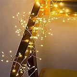 2 M 5M conveniente duradero e inofensivo alambre de cobre cadena luces LED petardo Hada Garland for la luz de Navidad Ventana boda del partido con pilas (Emitting Color : Changeable)