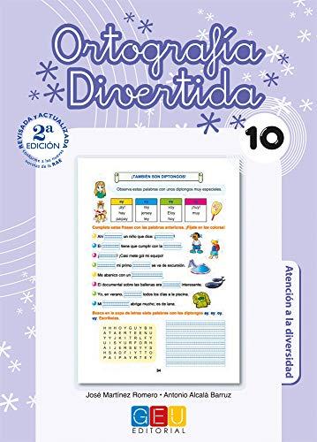 Ortografía divertida 10 / Editorial GEU / 4º Primaria / Mejora la ortografía / Recomendado como apoyo / Con actividades sencillas de repaso