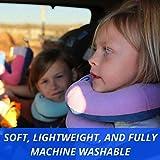 BCOZZY Kinder Nacken und Kinn stützendes Reisekissen – unterstützt den Kopf, Hals und das Kinn. Ein Patentiertes Produkt. Kindergröße, MARINEBLAU - 6