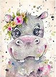HRKDHBS Pintura Al Óleo De Bricolaje Animal Kit De Pintura Digital DIY Niños Principiantes Artes Manualidades Decoración 40X50Cm (Tener Marco)