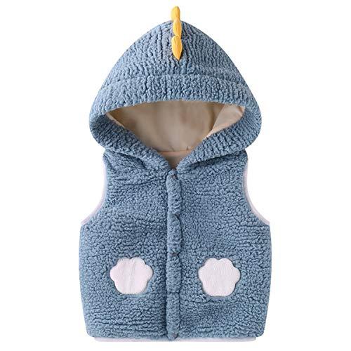 BigBig Style - Chaleco de invierno sin mangas para bebé, chaleco con capucha para otoño, 1504805/120029KOSBIF, azul, 12-14M