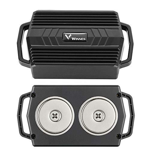 Winnes Starker Magnet GPS Tracker, 50 Tage Lang Standby GPS Fahrzeug Tracker Echtzeit Monitoring Wasserdicht GPS Locator Anti Verloren GPS Ortungsgerät mit Kostenlos APP für Smartphone
