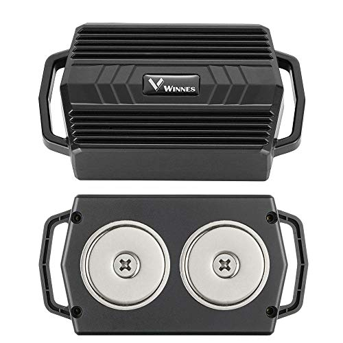 Winnes Starker Magnet GPS-Tracker, 50 Tage Lang Standby GPS Fahrzeug Tracker Echtzeit Monitoring System, Wasserdicht GPS Locator, Anti Verloren GPS Ortungsgerät mit Kostenlos APP für Smartphone