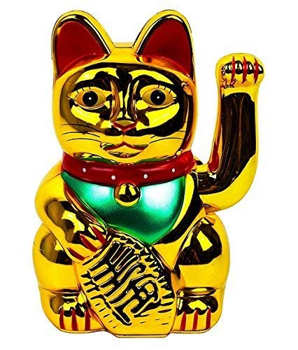 Monkey King Gold Feng Shui Lucky Cats Lucky Beckoning Waving Wealth Cat...