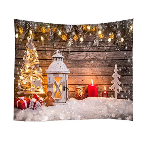 CalmTime Christmas Tapestry Wall Background Cloth Christmas Santa Claus Home Hanging Cloth Bedroom Living Room Decoration Cloth