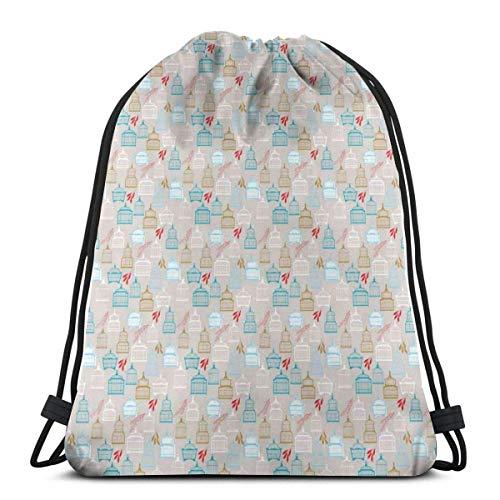 Bolsa de viaje con cordón, para gimnasio, para mujeres, hombres, niños, jaulas...