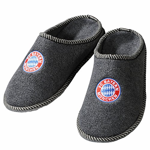 FC Bayern München Filz-Pantoffeln, Grau, 41