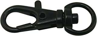 Chuzhao Wu Metal Black Curved Lobster Clasps Swivel Trigger Clips Snap Length 1.25 Inches(Pack Of 20)