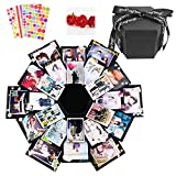 Dawa - Caja de explosión negra para álbumes de fotos, manualidades y álbumes de recortes, caja de regalo para Navidad, cumpleaños, aniversario, San Valentín, boda, día de la madre